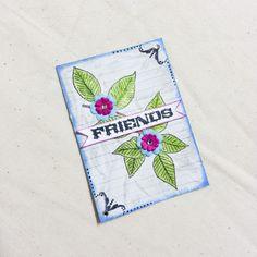 #atc #artisttradingcard #mixedmedia #bicycle #mixedmediaart #watercolors #friends #spring #leaves