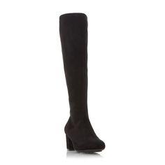 ROBERTO VIANNI LADIES SHILO - Block Heel Knee High Boot - black   Dune  Shoes Online