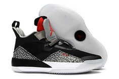 84e002d108a Buy Air Jordan 33 Black Cement Elephant Print Shoes-1 Black Jordans