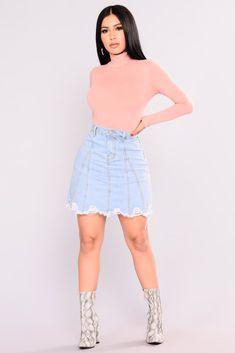 Jayde Denim Skirt - Denim