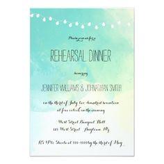 Beach Wedding Rehearsal Dinner Nautical watercolor rehearsal dinner invitations