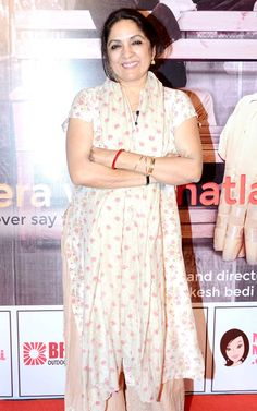 Neena Gupta at Anupam Kher - Neena Gupta's play 'Mera Who Matlab Nahi Tha'. #Bollywood #Fashion #Style #Beauty