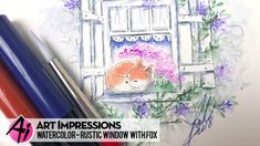 Ai Watercolor - Rustic Window with Fox - YouTube