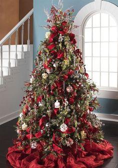 Красивые Новогодние Елки, Темы Рождественской Елки, Елочные Украшения, Рождественские Поделки, Тематические Рождественские Елки, Красное Рождество, Снежинки, Рождественские Свечи, Рождественские Венки