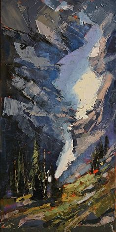 Crevice by Linda Wilder was selected as Outstanding Acrylic in the October 2012 BoldBrush Painting Competition.