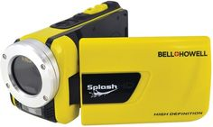 "Bell+Howell - 16.0 Megapixel 1080p SplashHD Underwater Digital Video Camcorder  16.0 megapixels 1920 x 1080p full HD video resolution 3.0"""" widescreen display Waterproof to 10ft 8x digital zoom Automatic face detection Automatic motion detection Underwater hot keys 5 picture effect modes Pre-recording technology Time-lapse playback Traffic/car mode Built-in LED video light Built-in USB port Built-in HDMI® port SDHC™ Card expandable to 32GB Powered by rechargeable Li-Ion battery Dim: 2.5""""H x…"