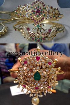 Latest Collection of best Indian Jewellery Designs. Gold Chain Design, Gold Bangles Design, Vanki Designs Jewellery, Gold Jewellery, Rajputi Jewellery, Arm Bracelets, Expensive Jewelry, Kids Jewelry, Jewelry Patterns