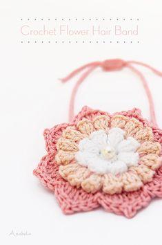 6f0b33fc3f7 Crochet Flower Hair Band by Anabelia Craft Design Crochet Flower Headbands