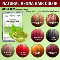 Henna Hair Color ¨C 100 Organic and Chemical Free Henna for Hair Color Hair Care , Henna Hair Color, Henna Hair Dyes, Hair Dye Colors, Henna For Hair, All Natural Hair Dye, Organic Hair Dye, Natural Hair Styles, Natural Hair Coloring, Henna Pelo