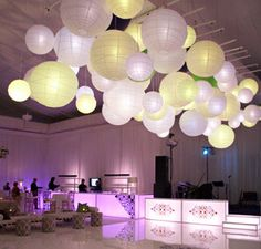 To provide soft lighting within the reception venue
