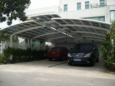 Highly Anodized Aluminium Carports With Polycarbonate Arched Roof #Awnings #Canopy #Polycarbonate