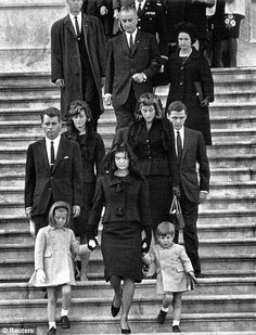 11/24/63: The Kennedy family leaves the Capitol Rotunda following ceremonies for President Kennedy.
