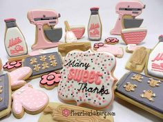 Sweet baking themed cookie set - by Flour Box Bakery