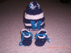 hat and booties for boys