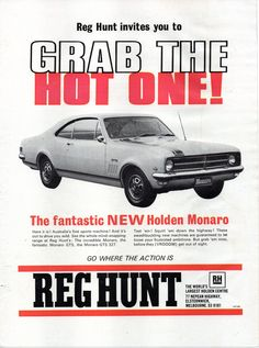 The Great Charm of Vintage Cars - Popular Vintage Vintage Racing, Vintage Cars, Vintage Advertisements, Ads, Advertising, Holden Monaro, Holden Australia, Aussie Muscle Cars, Australian Cars