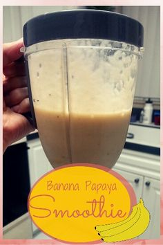 Banana Papaya Smoothie recipe by FoodieZoolee: 1 banana 3/4 cup almond milk 3/4 cup frozen papaya 1/4 cup oats 1 tbsp honey (if desired for sweetness)