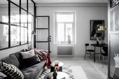 'Minimal Interior Design Inspiration' is a weekly showcase of some of the most perfectly minimal interior design examples that we've found around the web - all Interior Design Examples, Scandinavian Interior Design, Interior Design Inspiration, Home Living Room, Living Room Decor, Gravity Home, Dark Interiors, Living Room Inspiration, House Design