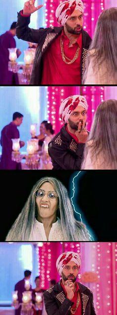 hes like its like youve come straight out of a horror movie & then khud imagine karke darjata hai BAHAHAHAHAHAH #ishqbaaaz #shivika