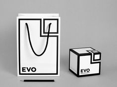 Saffron Brand Consultants Work Evo. Study in black and white #packaging PD