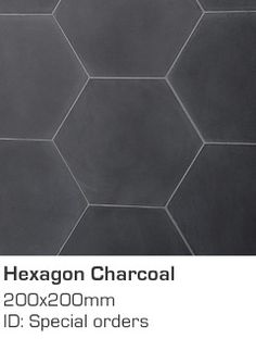 I love these Hexagon Charcoal tiles. I think they'd look great on the floor maybe and continue them up the wall behind the bath, teamed with white tiles.