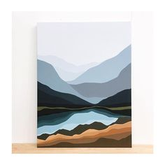 Simple Canvas Paintings, Diy Canvas Art, Acrylic Paintings, Minimalist Painting, Minimalist Art, Landscape Art, Landscape Paintings, Watercolor Art, Art Projects