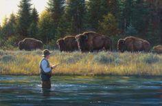 """""""Just Passing By"""" Robert  Duncan  Artwork Reminds me of Wyoming and Utah."""
