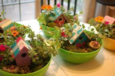 Great party idea! Fairy gardens.