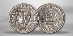 """Weimarer Republik, 3 Reichsmark 1927 """"100 Jahre Bremerhaven"""""""