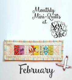 Monthly Mini Quilts for February {free mini quilt pattern + giveaway}! — SewCanShe | Free Daily Sewing Tutorials