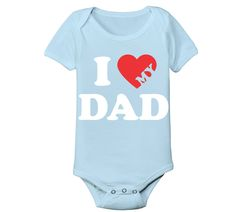 I Heart Dad Baby One Piece