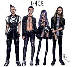 Hayden Williams Fashion Illustrations | DNCE by Hayden Williams