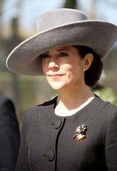 Royal Family Around the World: Crown Princess Mary of Denmark attends war memorial service in Denmark on April 9, 2015