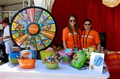 Nickelodeon trade show booth: fun with games and prizes