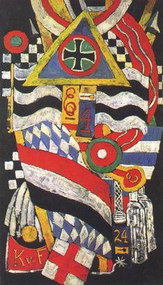 Tableaux sur toile, reproduction de Hartley, Portrait Of A German Officer, 173x105cm