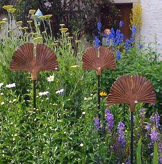 Ginko in Ceramic for Gardens - by Margit Hohenberger