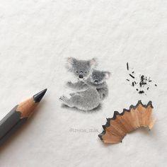 Miniature Paintings Animal Drawings Tiny Creatures Irene Malakova