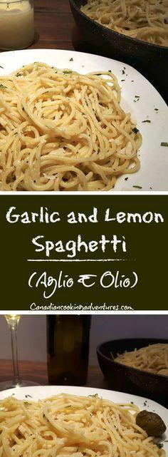 Garlic and Lemon Spaghetti (Aglio E Olio) WITH PARMIGIANO REGGIANO #valetines #dinner #valetine #dinnerfortwo #datenight #romance #Garlic @Lemon #Spaghetti #AglioEOlio #PARMIGIANO #REGGIANO #italian #foodie #food #recipe