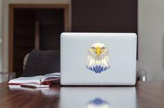 Modern Geometric Eagle spirit bird Apple MacBook / Laptop / iPad color Decal Sticker Low Macbook Air Stickers, Macbook Laptop, Decals, Eagle, Ipad, Spirit, Color, Etsy, Modern