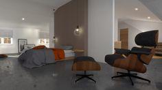 Sótão do Tiago #loftrenovation #loft #architecture #render #study #kicthen…
