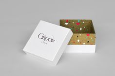 Packaging for French jewellery manufacturer Gripoix by graphic design studio Mind