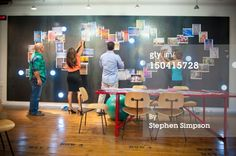 High-Res Stock Photography: idea brainstorming room graphic design office                                                                                                                                                     Más