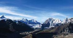 The panoramic view from Kala Patthar - the Himalayas, Nepal. Photo by Bradley Stulberg