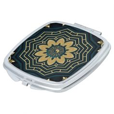 Shop Chic Gold & Green Asian Style Square Compact Mirror created by BlueRose_Design. Compact Mirror, Asian Style, Yin Yang, Heart Shapes, Mirrors, Vibrant Colors, Purses, Luxury, Chic