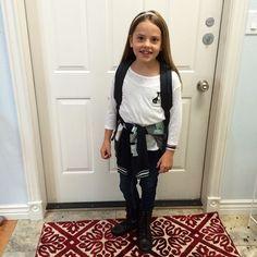Her face says it all...#firstdayofschool #mypreciouslittlegirl