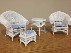 Wicker, Miniatures, Chair, Furniture, Home Decor, Decoration Home, Room Decor, Home Furnishings, Stool
