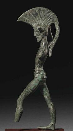 Etruscan bronze Warrior statuette - circa 450-400 BC