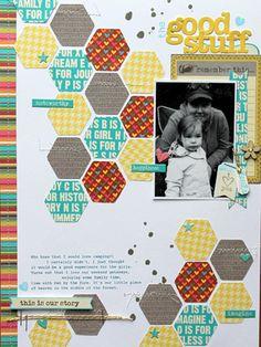 #papercraft #scrapbook #layout. Good Stuff layout by Design Team member Mel Blackburn via Jillibean Soup Blog