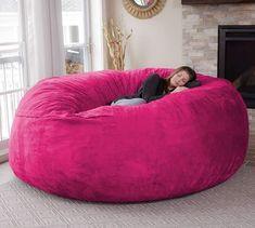 Chill Sack Bean Bag, Microsuede - Pink #CuteGiftIdeas #Gift #LazySofa