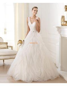 Princess-Stil bodenlang Organza Brautkleider 2014