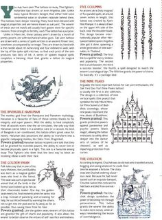 "Sak Yant (Thailand's ""Magic Tattoos"") some of the most popular designs, as well as history & interesting general information"